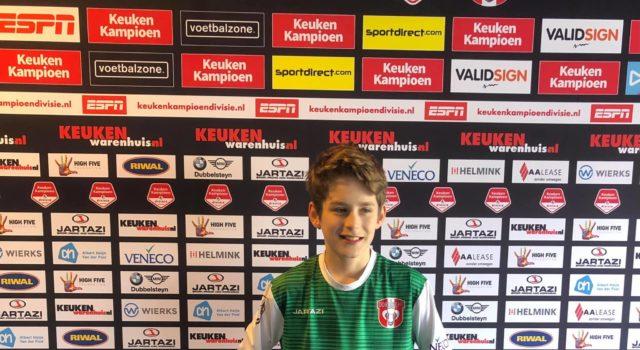 Steyn Rombout 5e nieuwe speler voor FC Dordrecht O14 seizoen 2021-2022