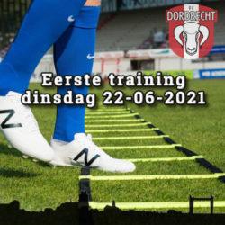 1e training voorbereiding op dinsdag 22-06-2021